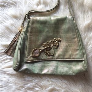 RARE {Vintage} Iridescent Leather Bag